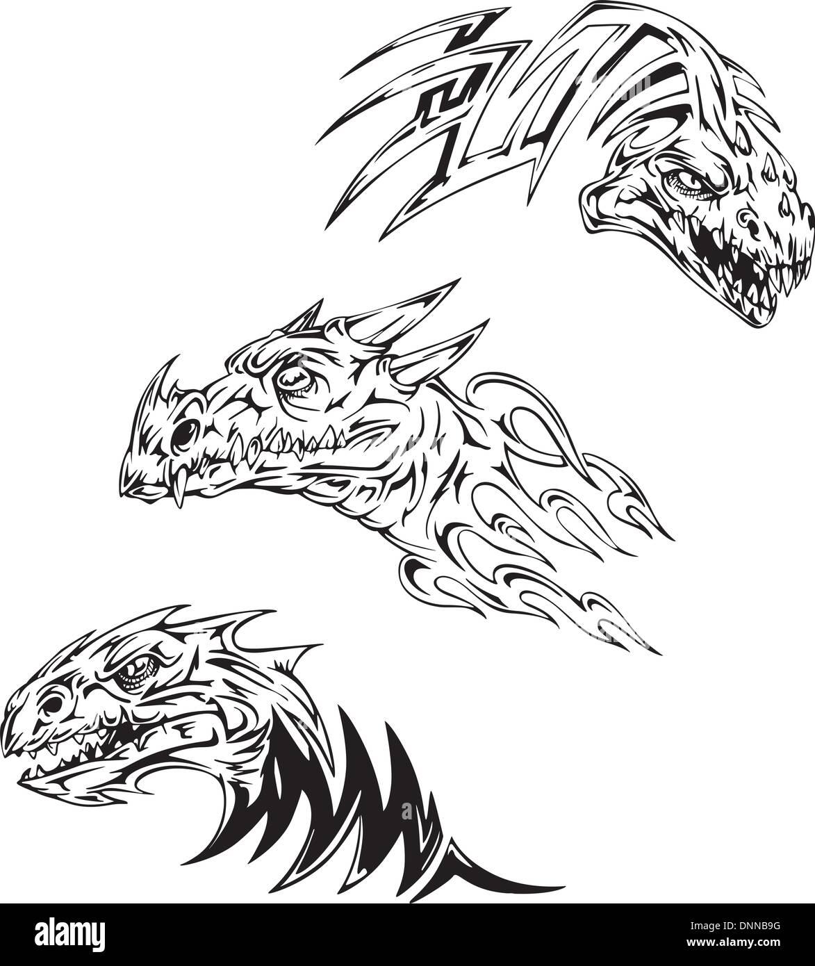Tatuajes De Dinosaurios Conjunto De Ilustraciones Vectoriales En Blanco Y Negro Imagen Vector De Stock Alamy Las peores fotos con los tatuajes más feos del mundo del tattoo, humor, fails de tatuajes malos y feos. https www alamy es tatuajes de dinosaurios conjunto de ilustraciones vectoriales en blanco y negro image65008764 html