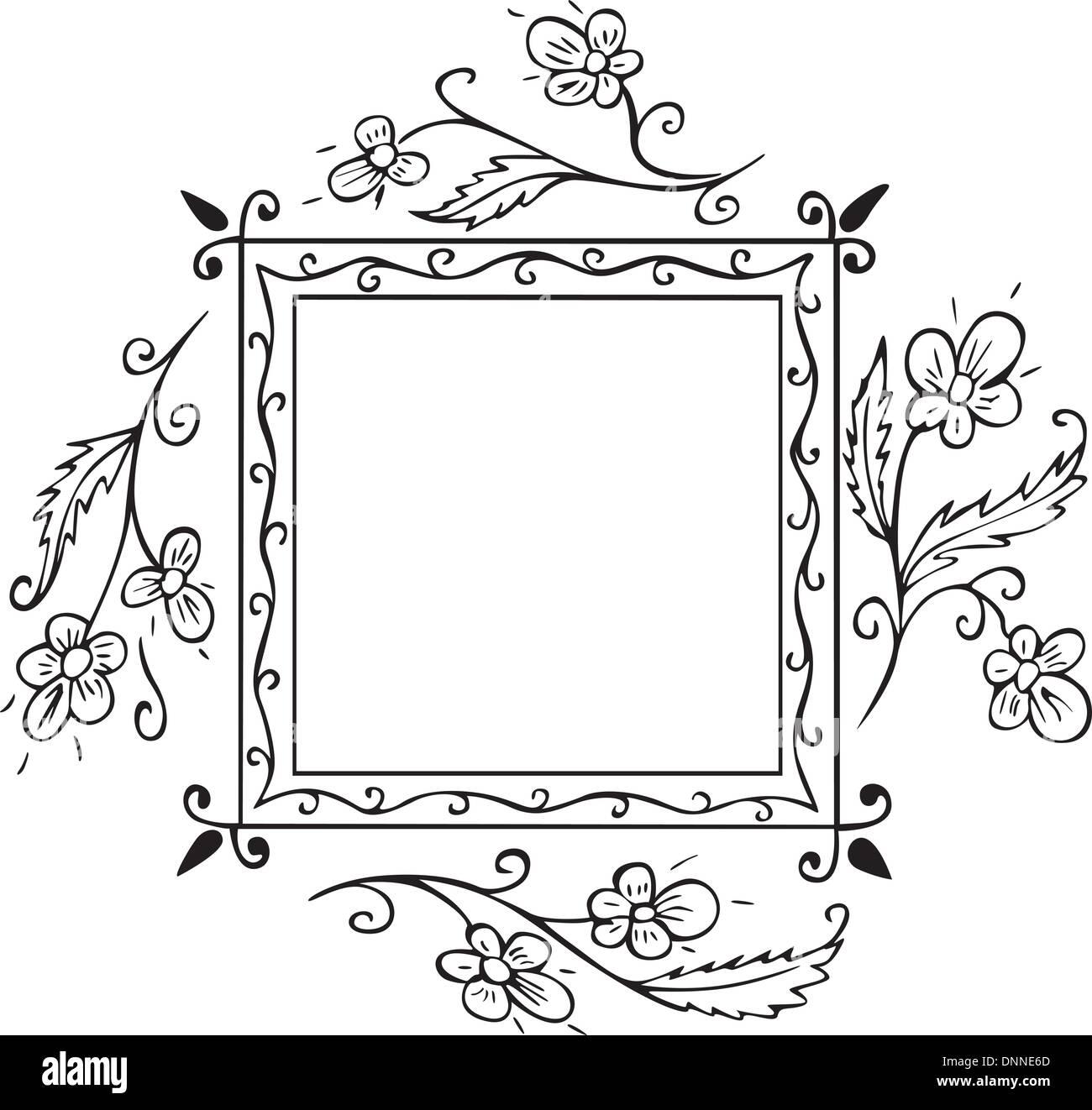 Marco floral plaza decoraci n para tapas de libro y p ginas de t tulo vectorial eps listas para - Paginas de decoracion ...