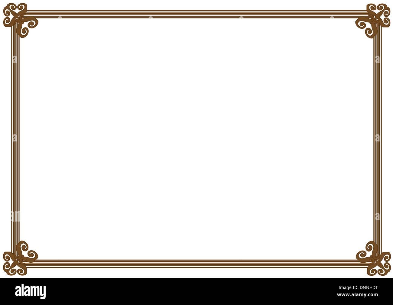 Lindo, Marco simple se puede usar como marco del diploma Ilustración ...