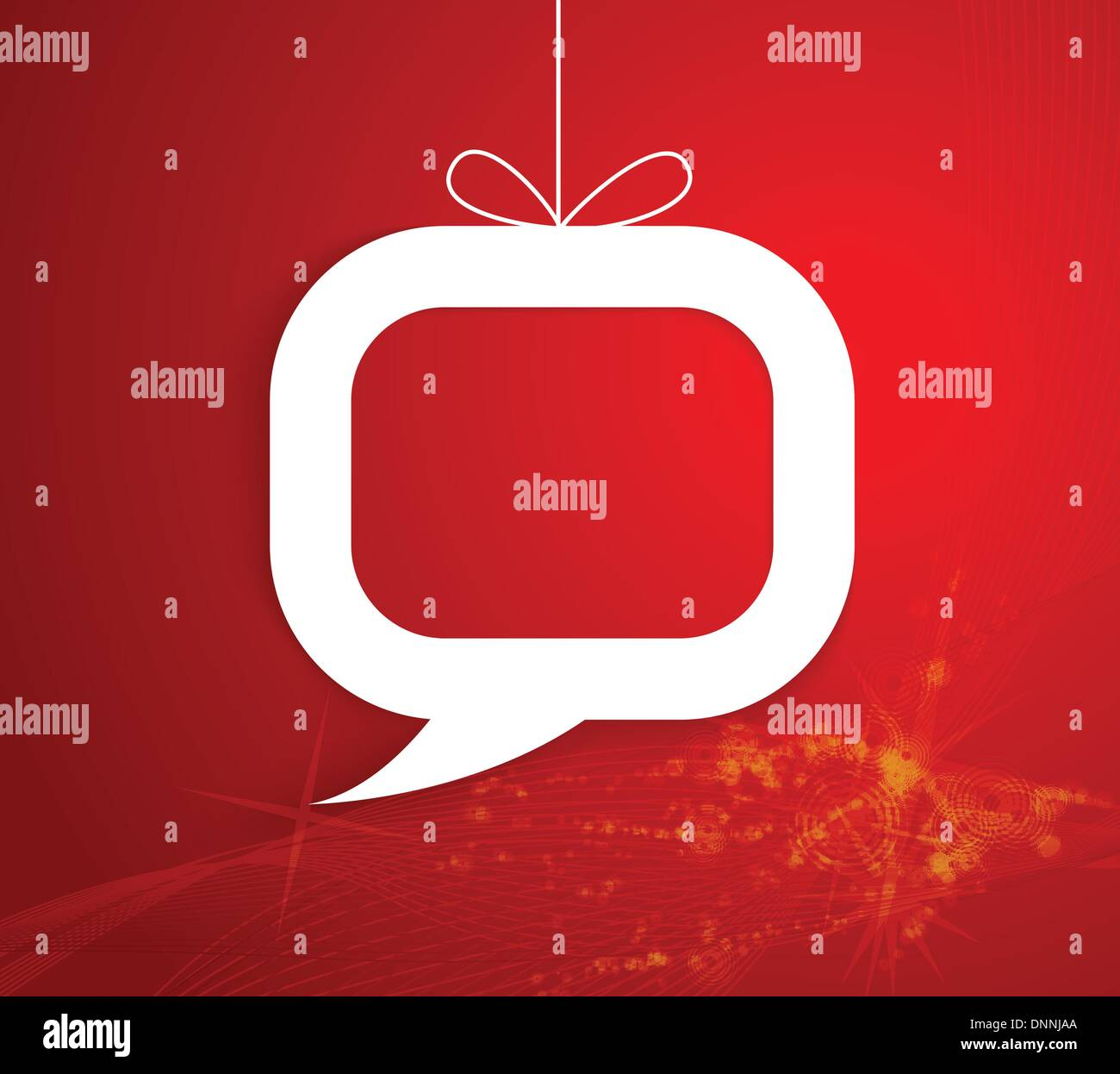 Regalo de navidad en forma de discurso Imagen De Stock
