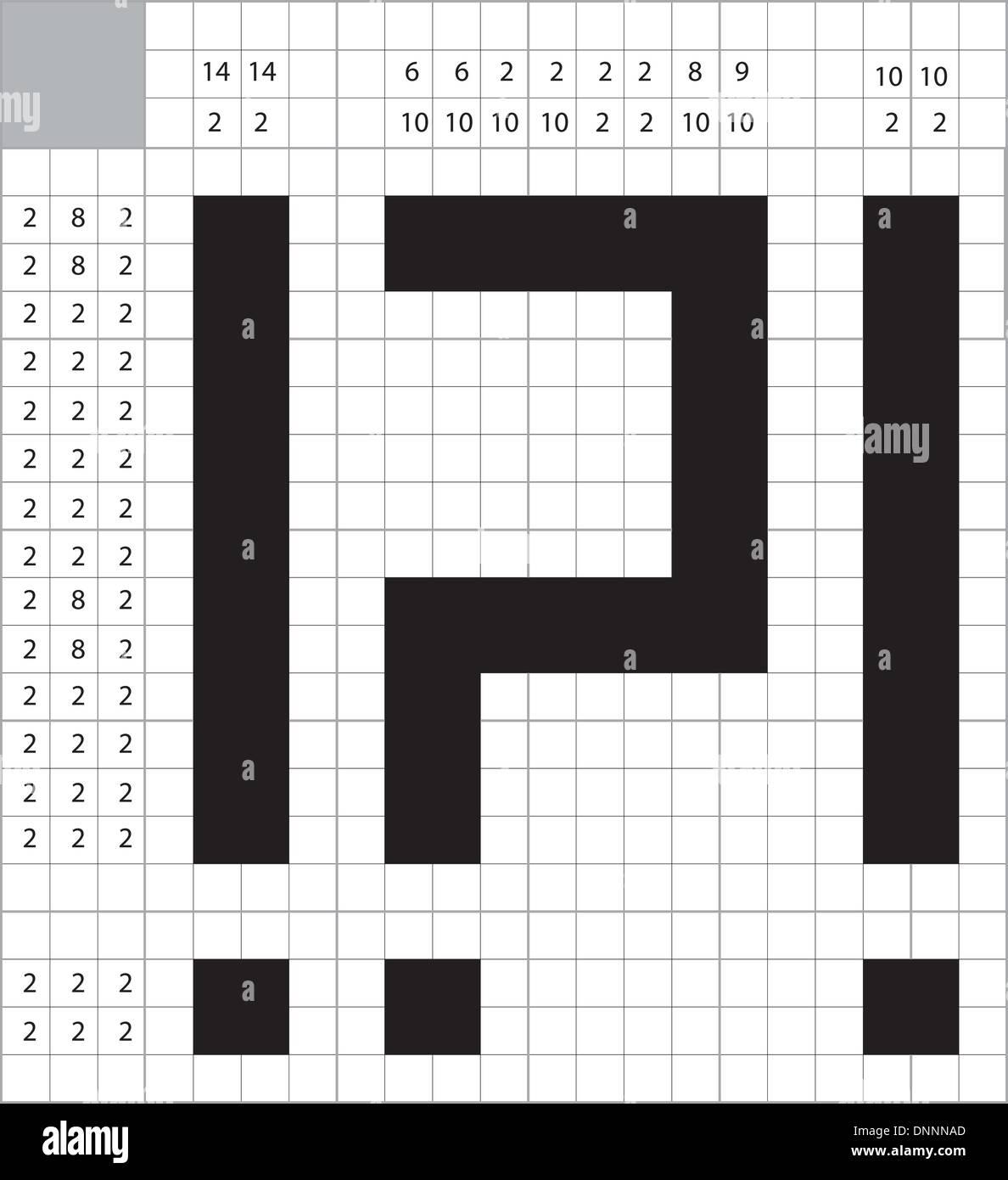 Un vector de crucigramas en blanco Imagen De Stock