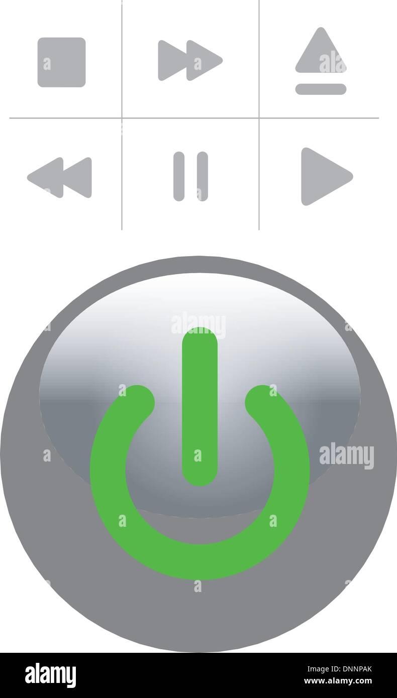 Botón Set Imagen De Stock