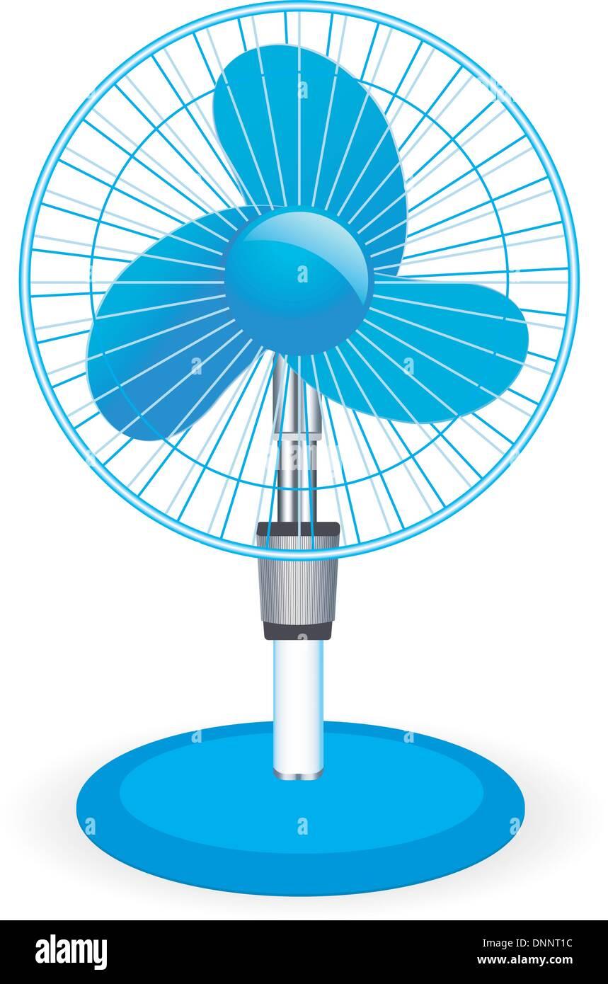 Ventilador de mesa - ilustración vectorial Imagen De Stock