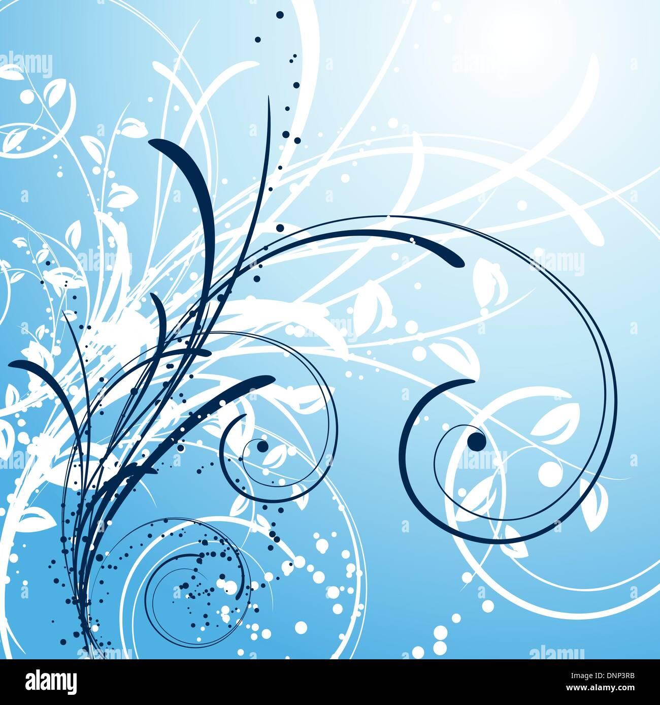 Fondo de invierno decorativos Imagen De Stock