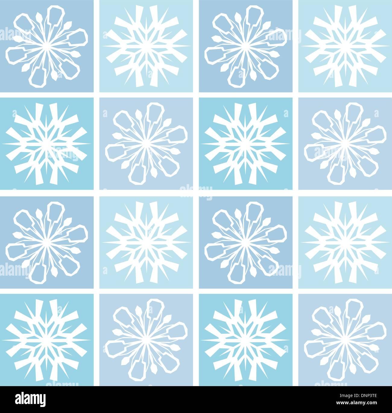 Resumen Fondo de copos de nieve Imagen De Stock
