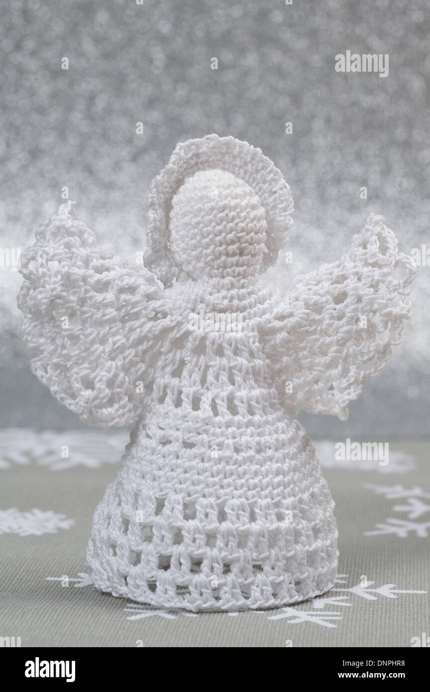 Crochet Christmas Angel Imágenes De Stock & Crochet Christmas Angel ...
