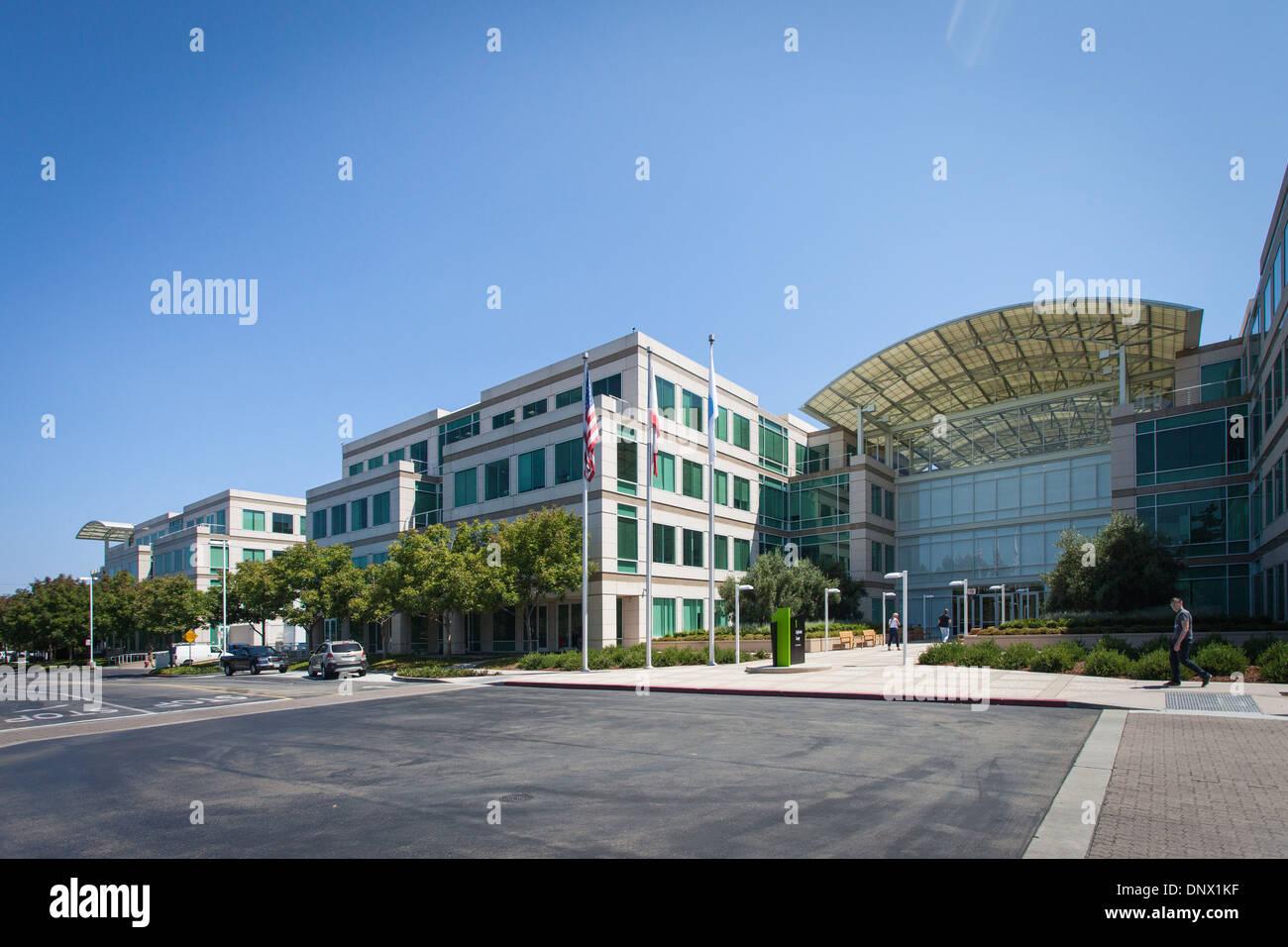 Sede de Apple - Infinite Loop, Cupertino, California Foto de stock
