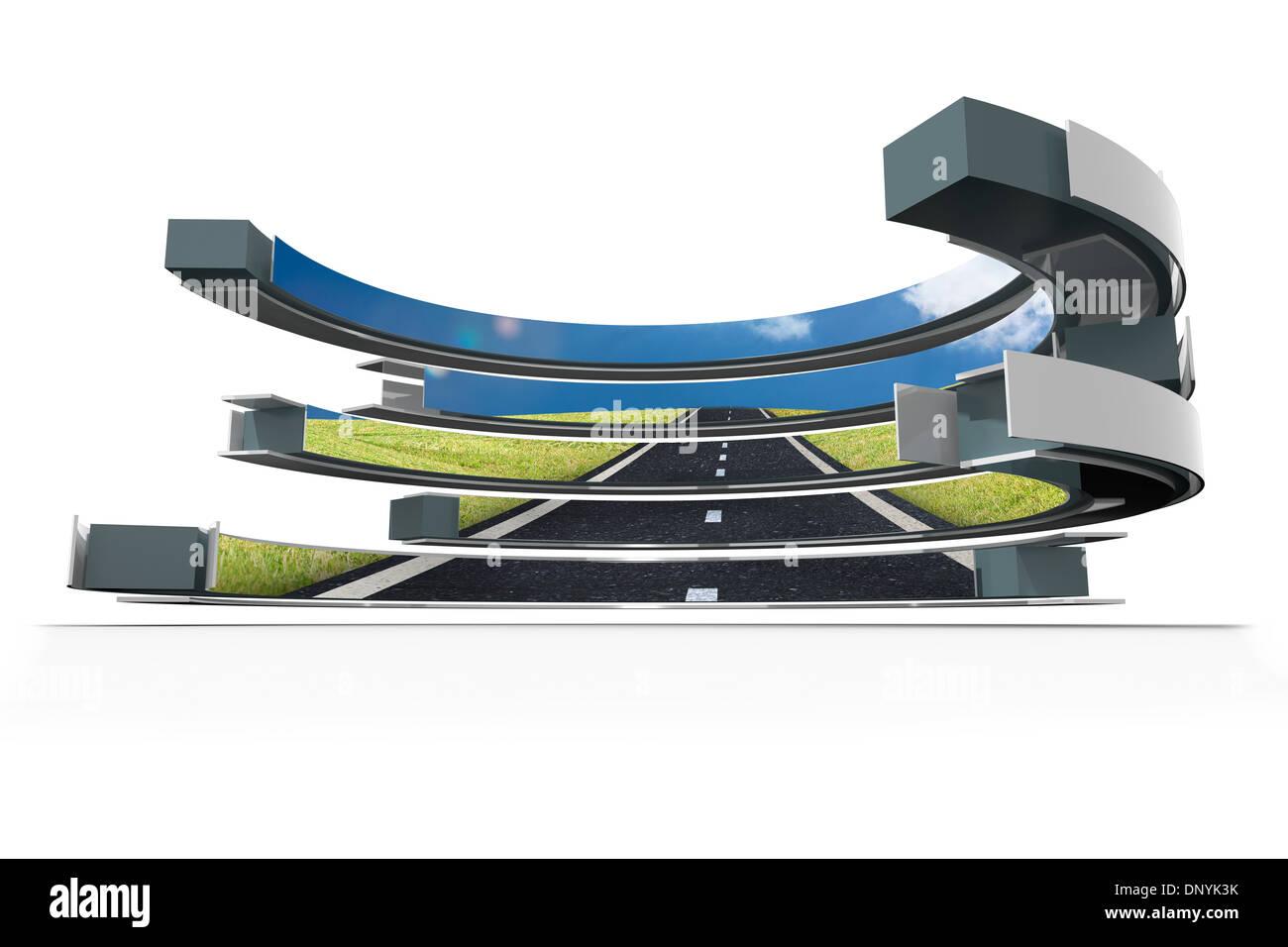 Carretera en pantalla abstracto Imagen De Stock