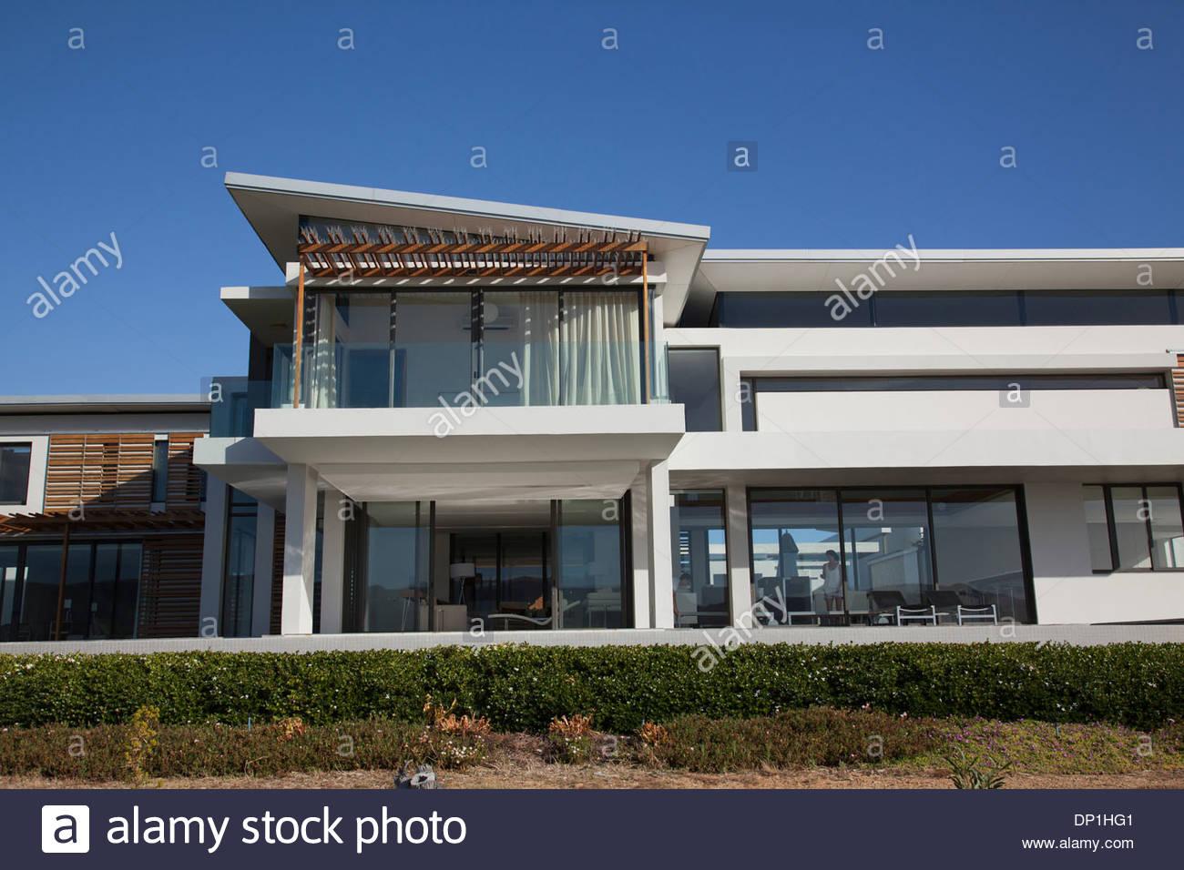 El exterior de la casa moderna Imagen De Stock