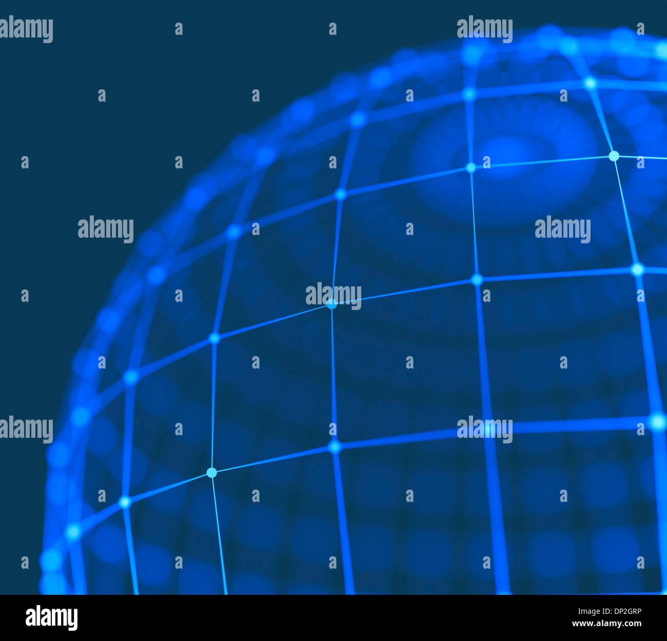 Mundo Digital, obra conceptual Imagen De Stock