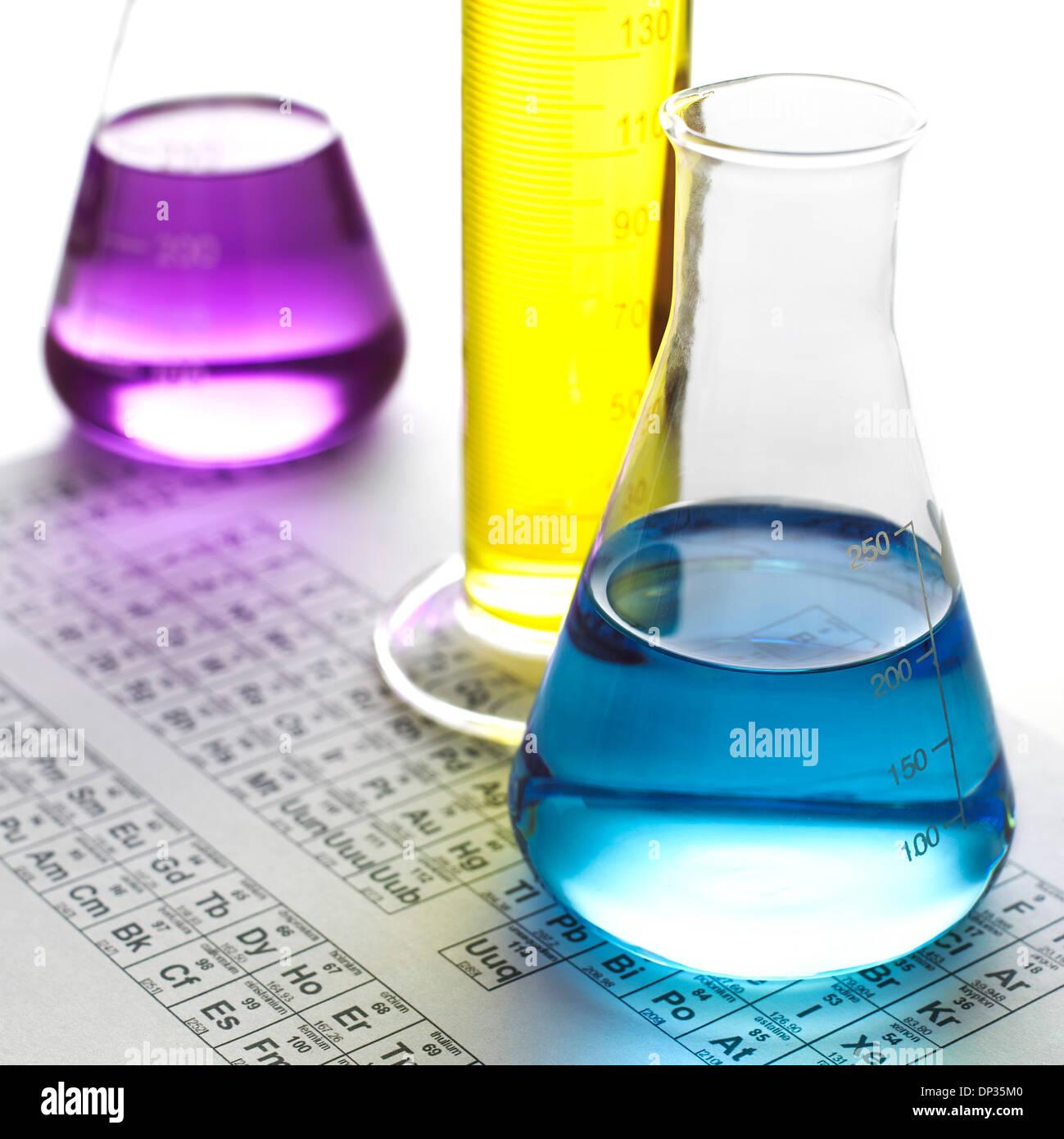 La investigación química, imagen conceptual Imagen De Stock