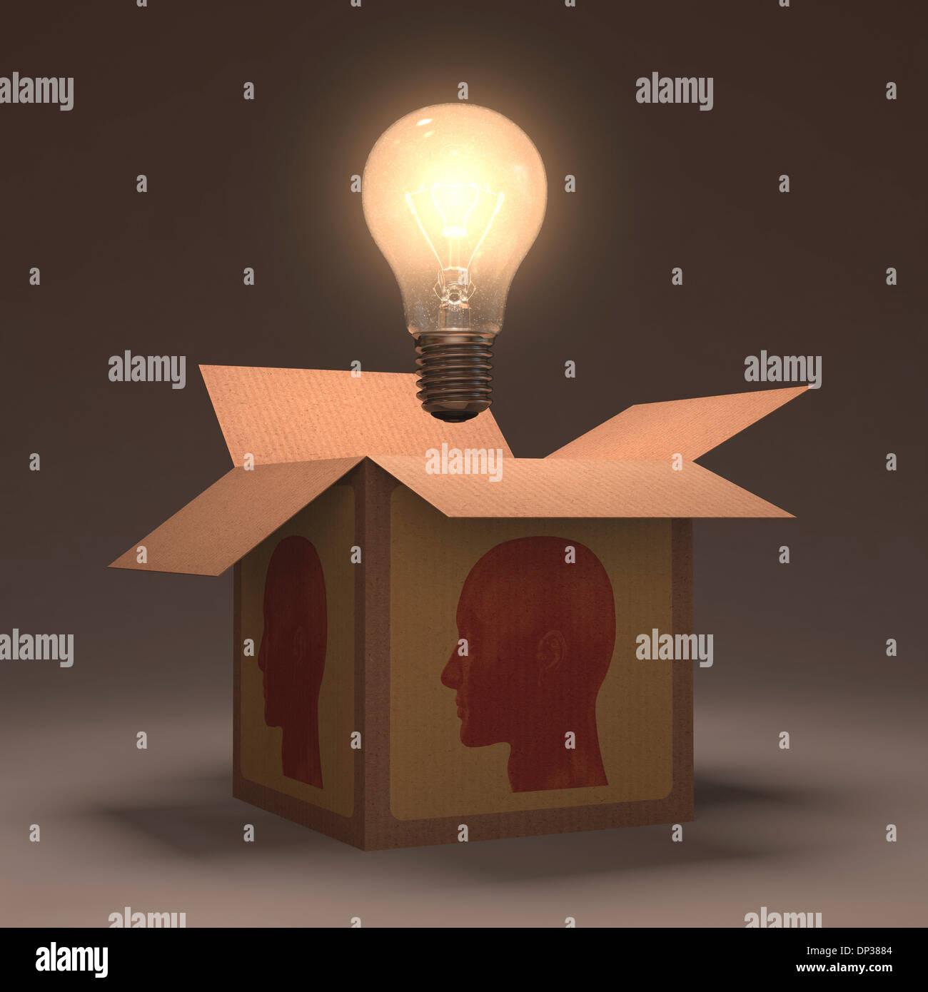 La creatividad, la obra conceptual Imagen De Stock