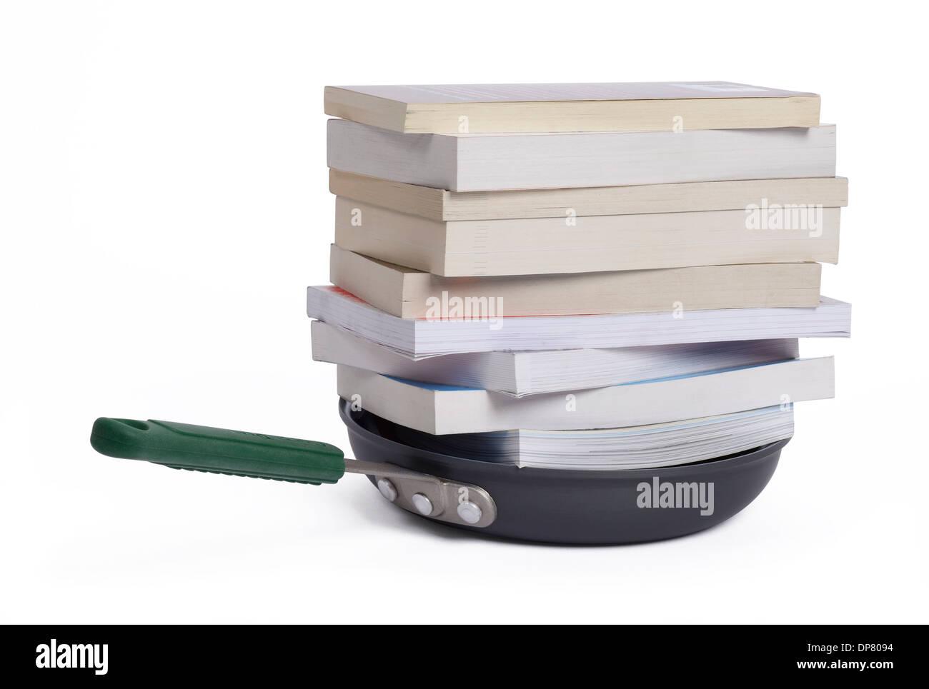 El concepto de finanzas libros de cocina Imagen De Stock