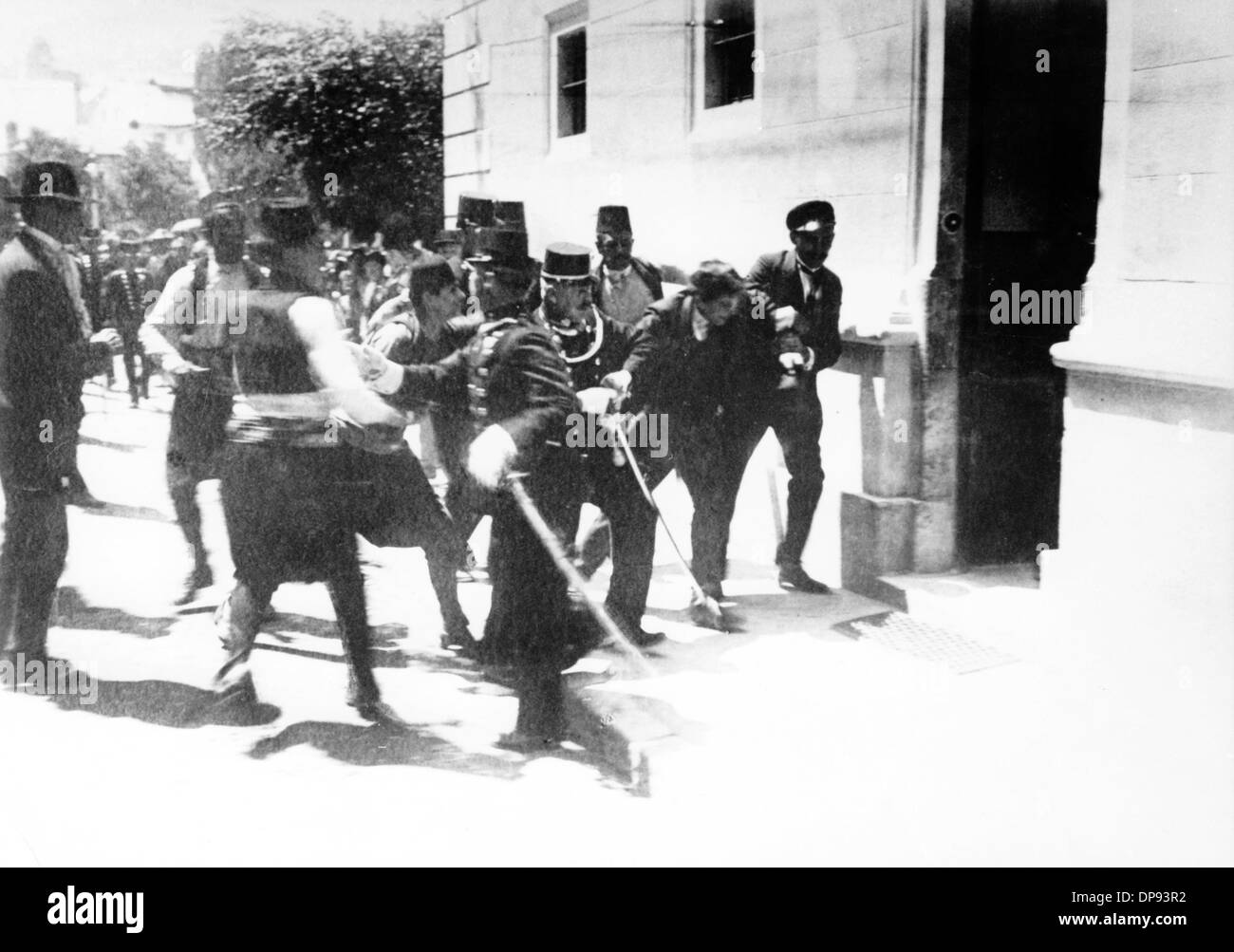 Los asesinos de Austria, heredero del trono Austro-Húngaro, el archiduque Franz Ferdinand, Nedeljko Cabrinovic, Imagen De Stock