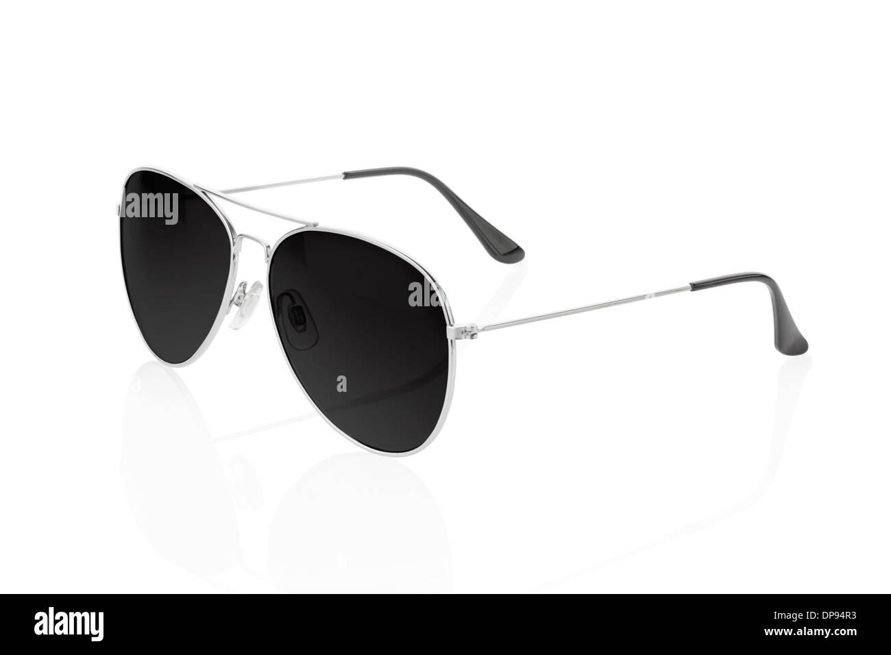 Gafas de sol sobre blanco Imagen De Stock