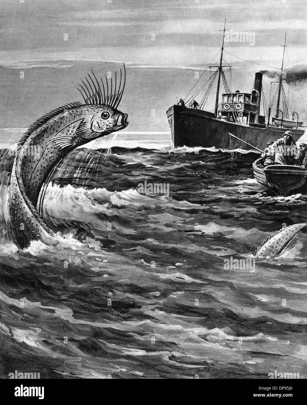 Folclore/serpiente de mar Imagen De Stock