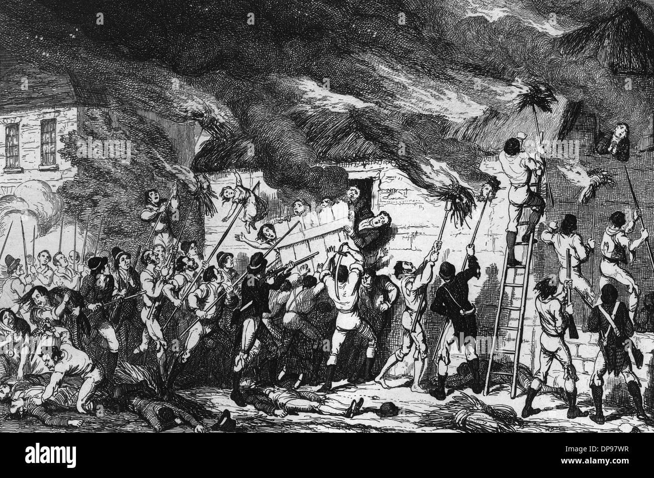 1798 SCULLABOGUE MASSACR Foto de stock