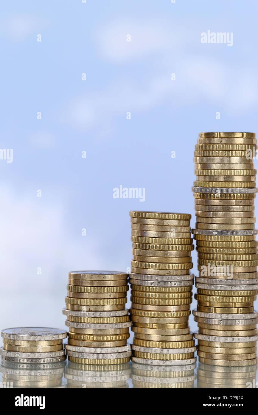 Un gráfico monetario con el tema crecimiento y éxito Imagen De Stock