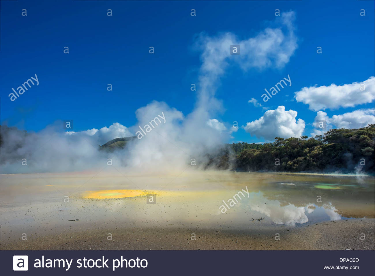 'Paleta' del artista característica geotérmica, zona termal Waiotapu, Rotorua, Nueva Zelanda Imagen De Stock