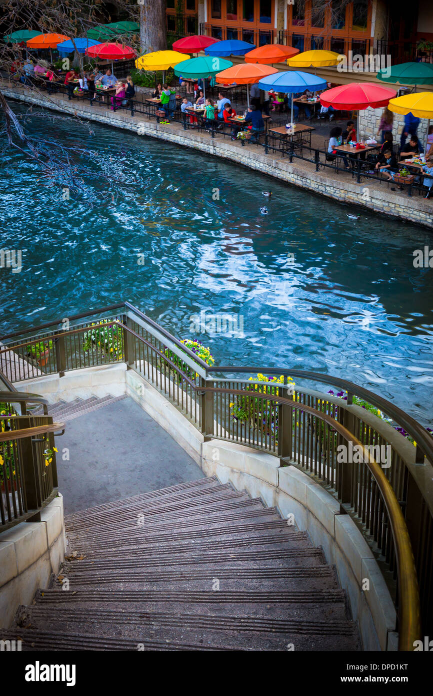 El Riverwalk de San Antonio, Texas, Estados Unidos Imagen De Stock