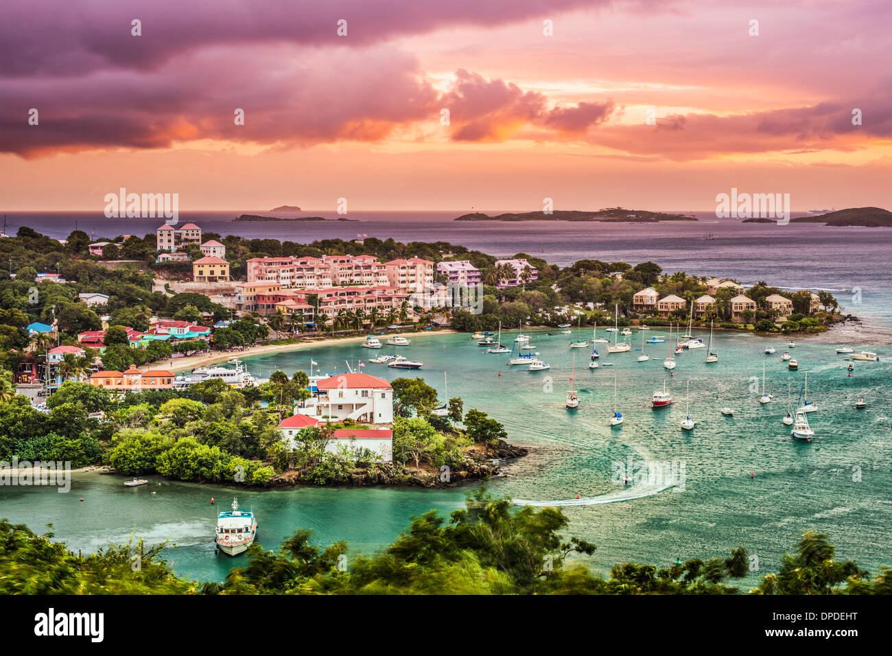 Cruz Bay, St John, Islas Vírgenes de los Estados Unidos. Imagen De Stock