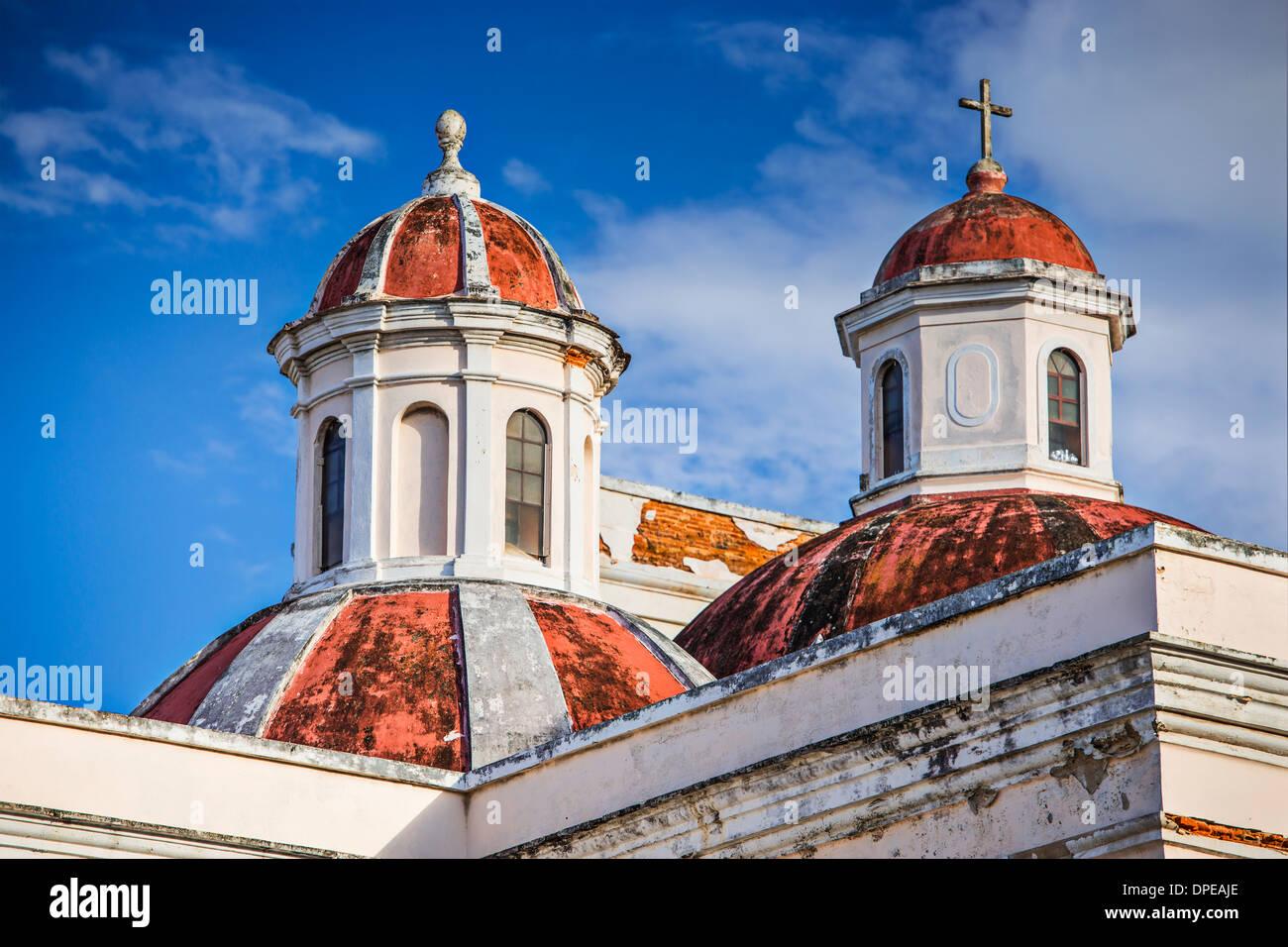 Catedral de San Juan Bautista en San Juan, Puerto Rico. Imagen De Stock