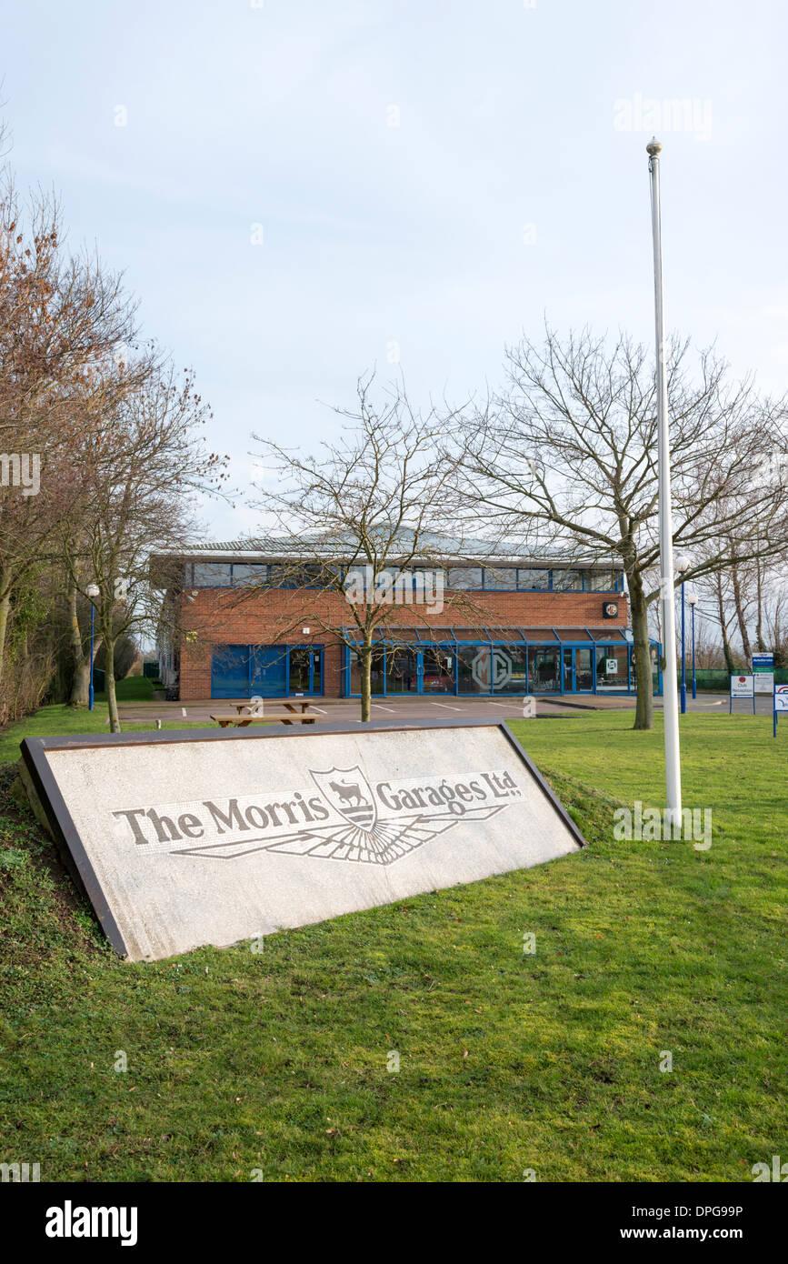 La sede de la MG o Morris Garages Propietarios Club en Cambridgeshire Swavesey UK Imagen De Stock