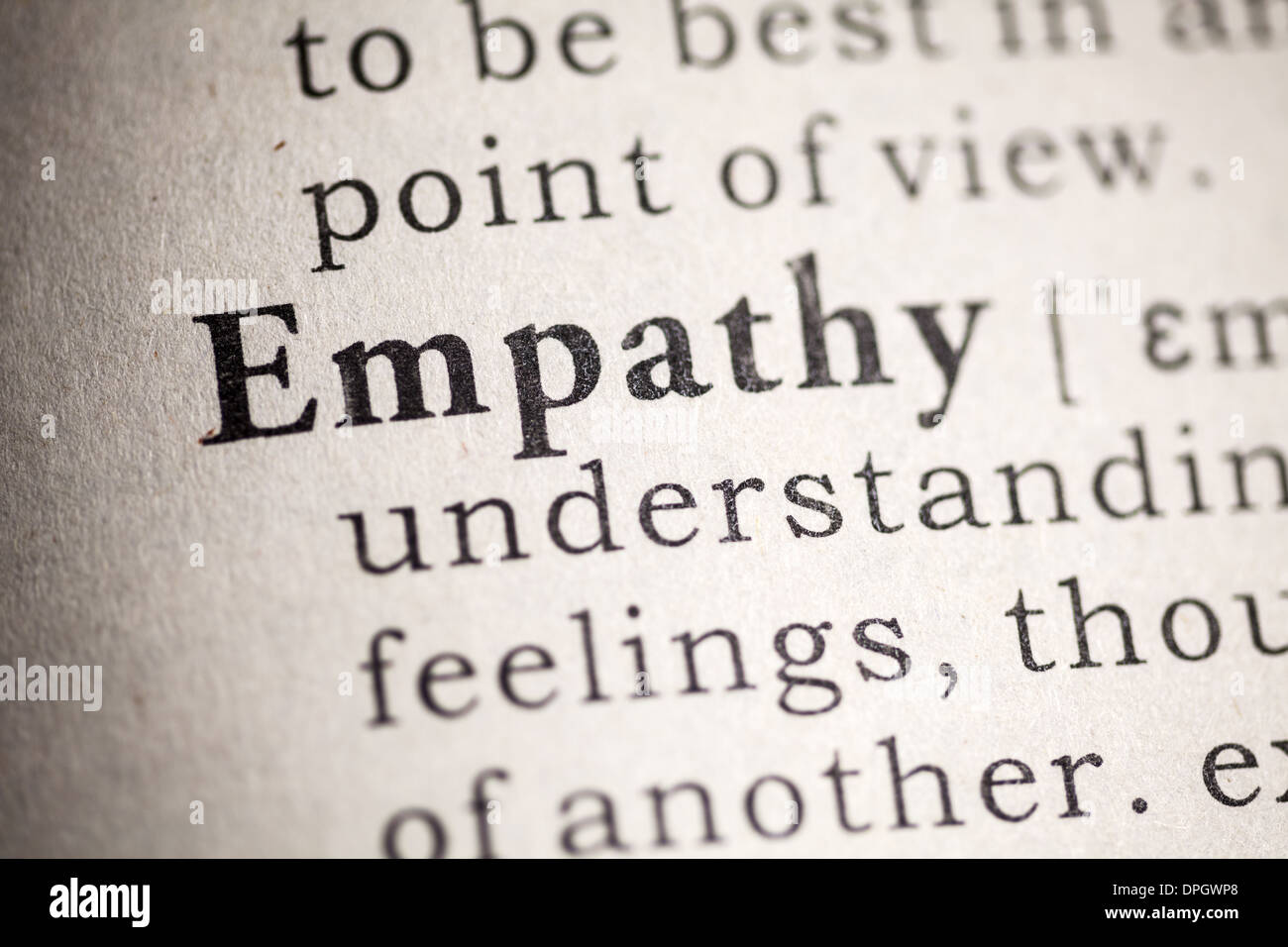 Diccionario de falsos, diccionario Definición de empatía. Imagen De Stock