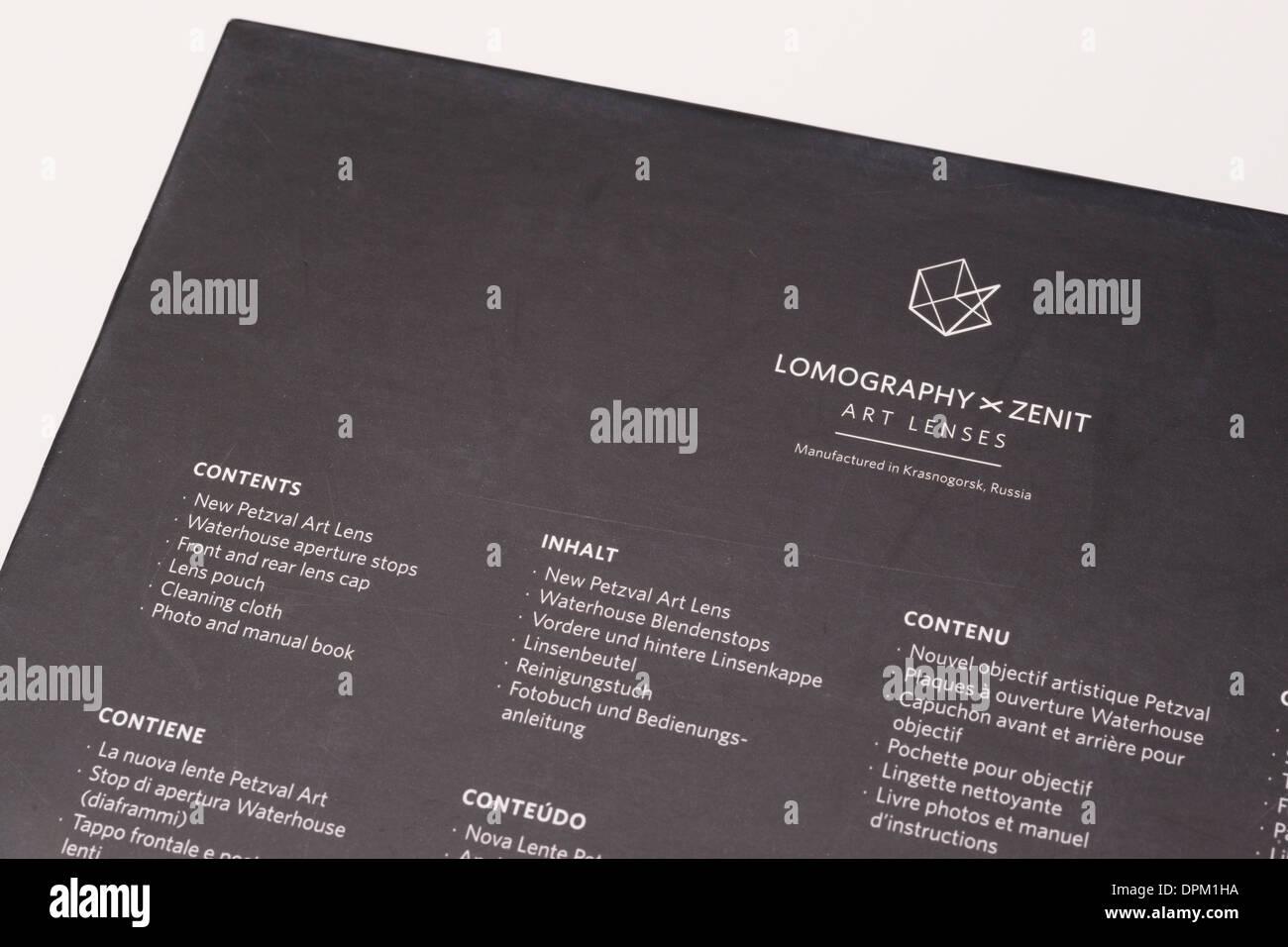 2005a66233 Información del cuadro de lentes Petzval, Lomography Project - internet  Kickstarter producción financiado por pedidos. Réplica de 1840 lente.