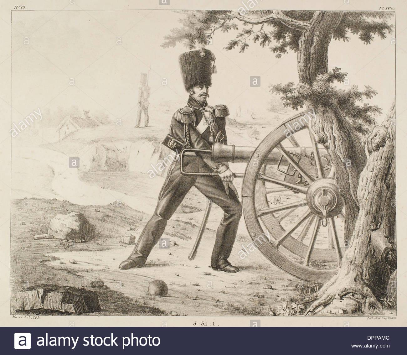 La artillería francesa - 13 Imagen De Stock