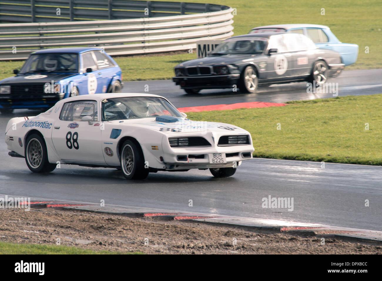Coches clásicos deportivos Snetterton Imagen De Stock