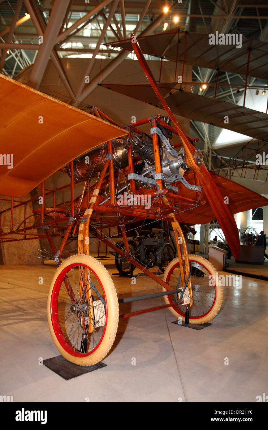 McDowall en pantalla monoplano en Ottawa, la aviación y el Museo del Espacio, 12 de enero de 2014 Foto de stock