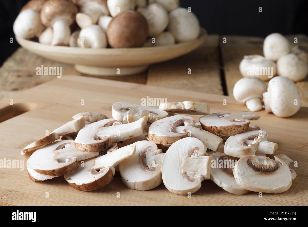 Marrón y blanco de setas Imagen De Stock