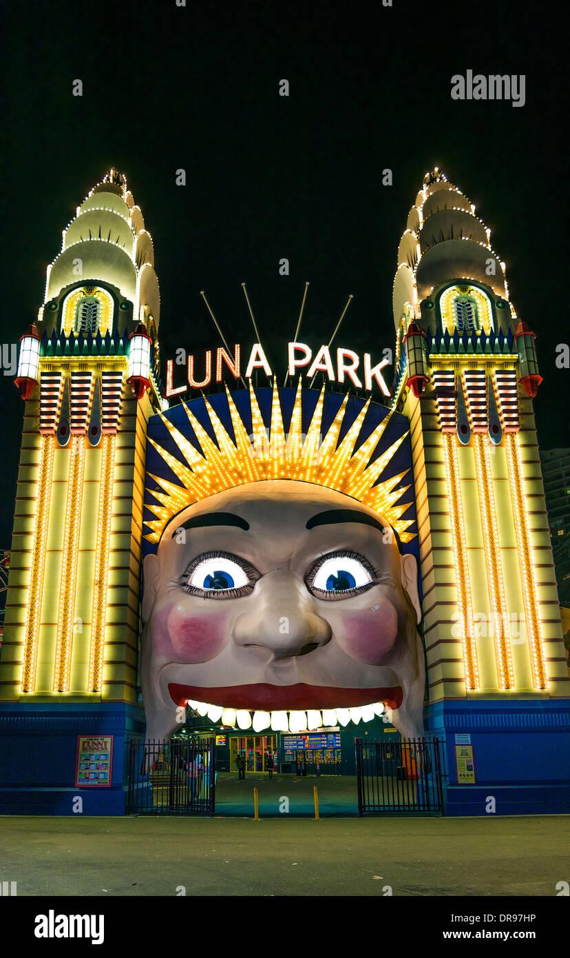 Luna Park, puerta de entrada en Sydney, Australia Imagen De Stock