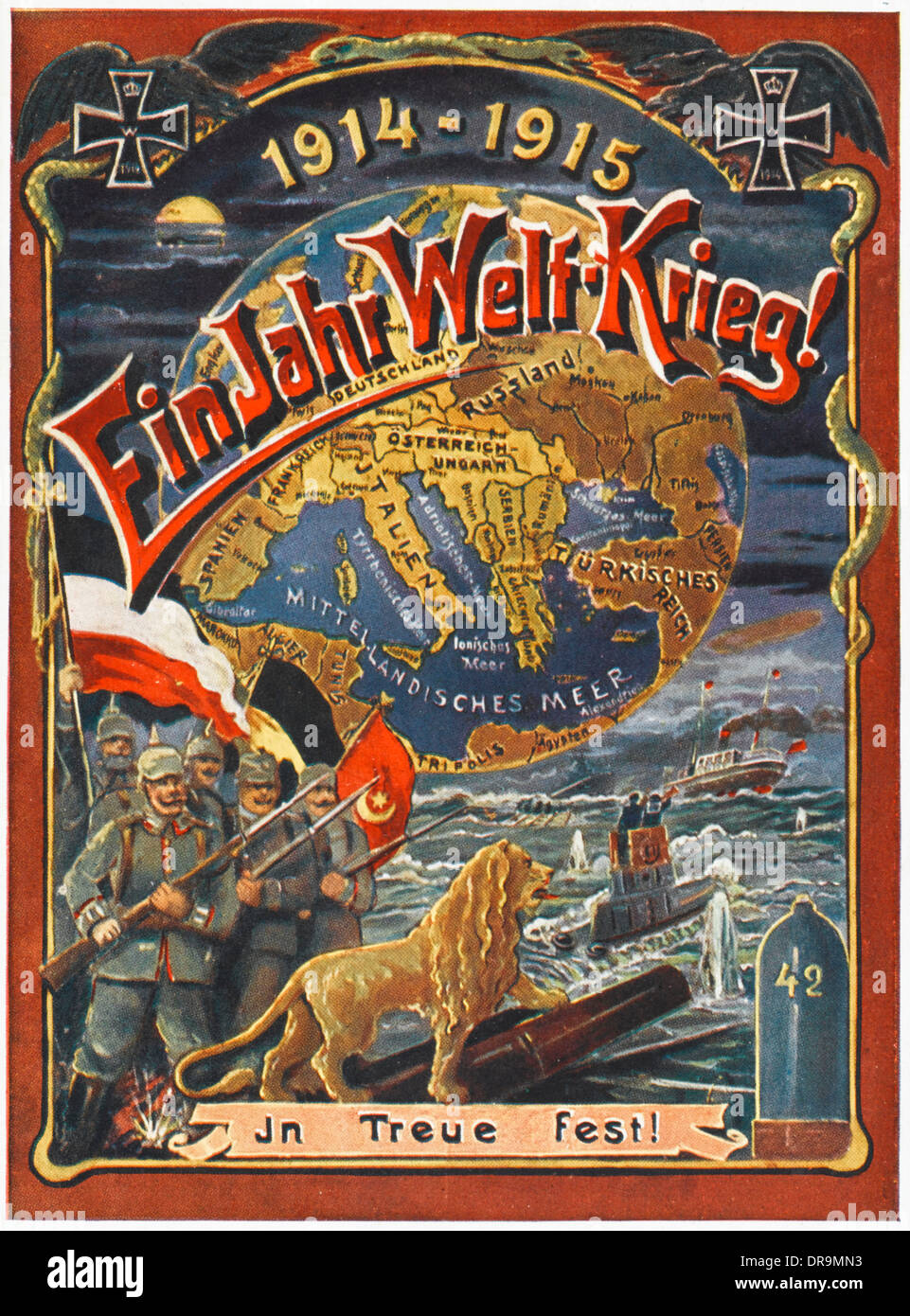 Un año de la Primera Guerra Mundial Imagen De Stock