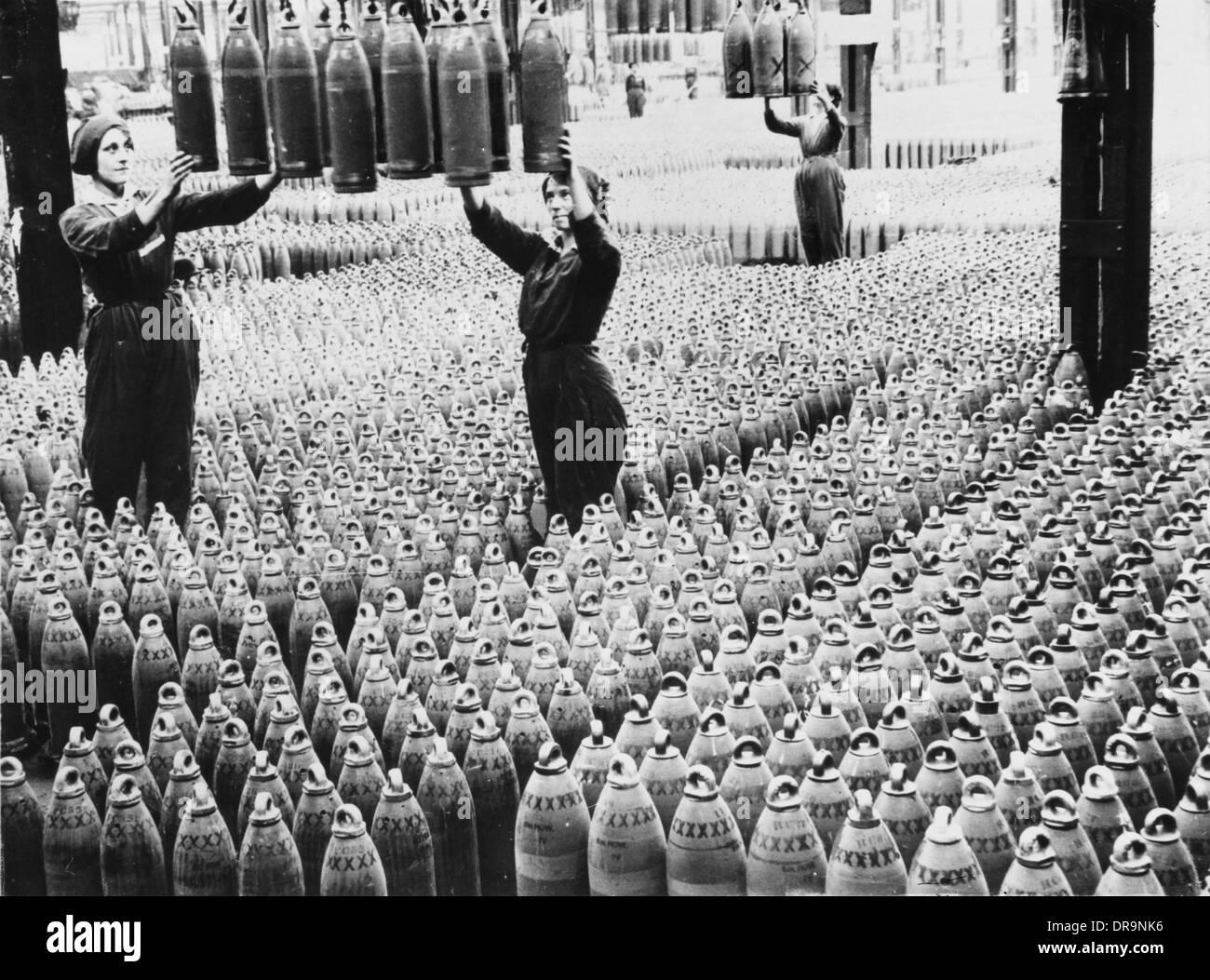 Las mujeres trabajadoras, la I Guerra Mundial Imagen De Stock