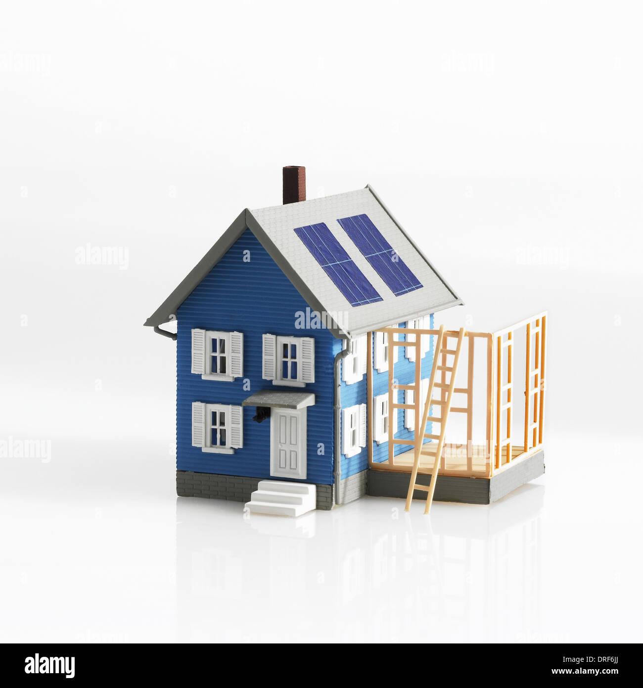 Modelo De Casa Tradicional Con Terraza Extension Foto