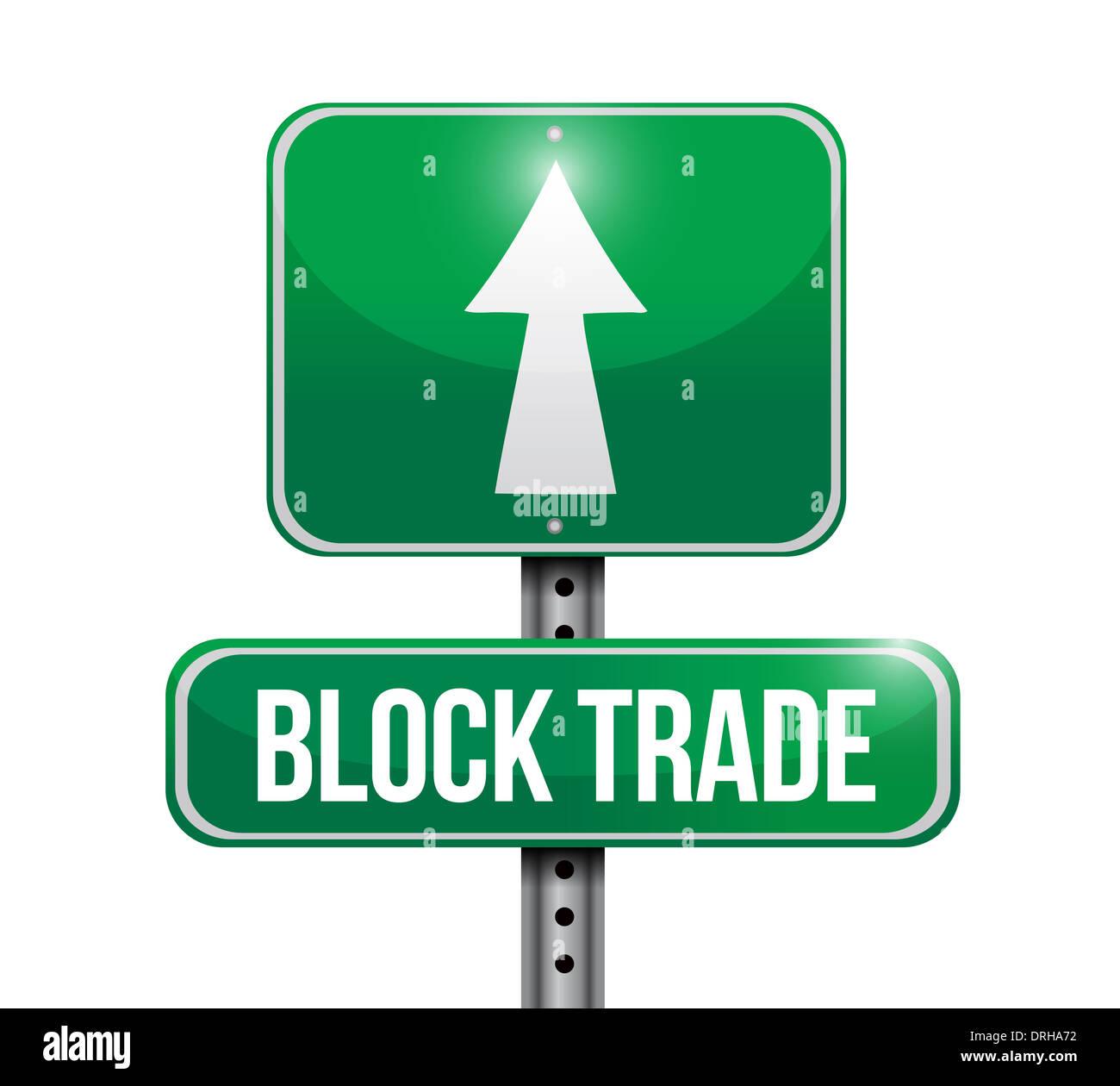 Bloquear el comercio señales de carretera, diseño de ilustraciones sobre blanco Imagen De Stock