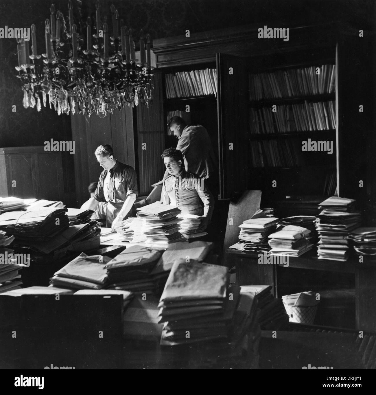 Servicio de archivado en la Conferencia de Paz de París Imagen De Stock