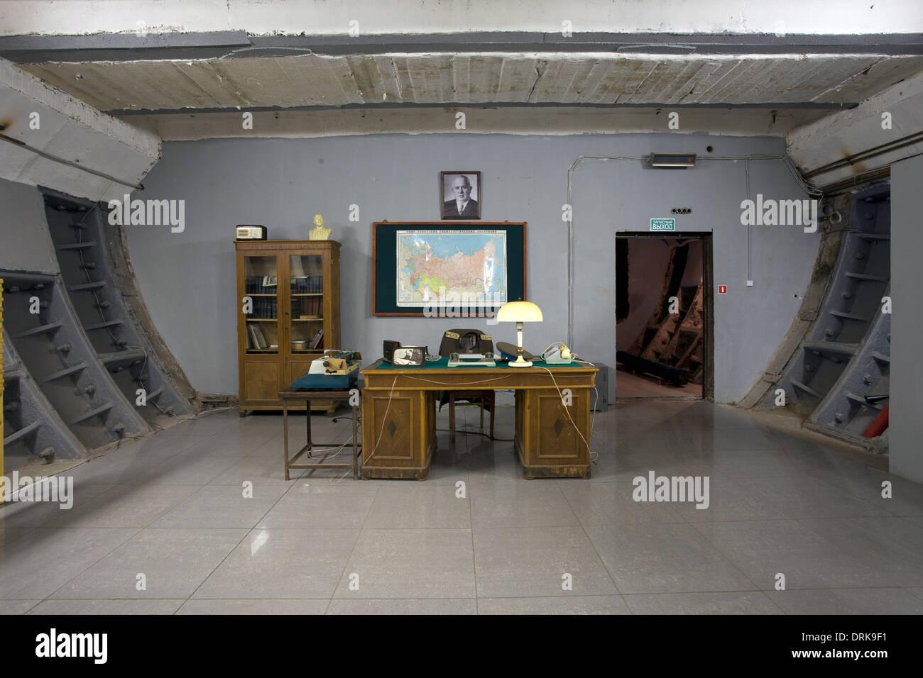 Punto de comando Tagansky protegido búnker nuclear de la guerra fría Moscú Imagen De Stock