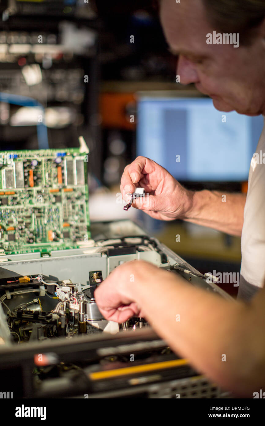 Tecnología trabajo trabajo trabajo ingeniero de profesión Imagen De Stock