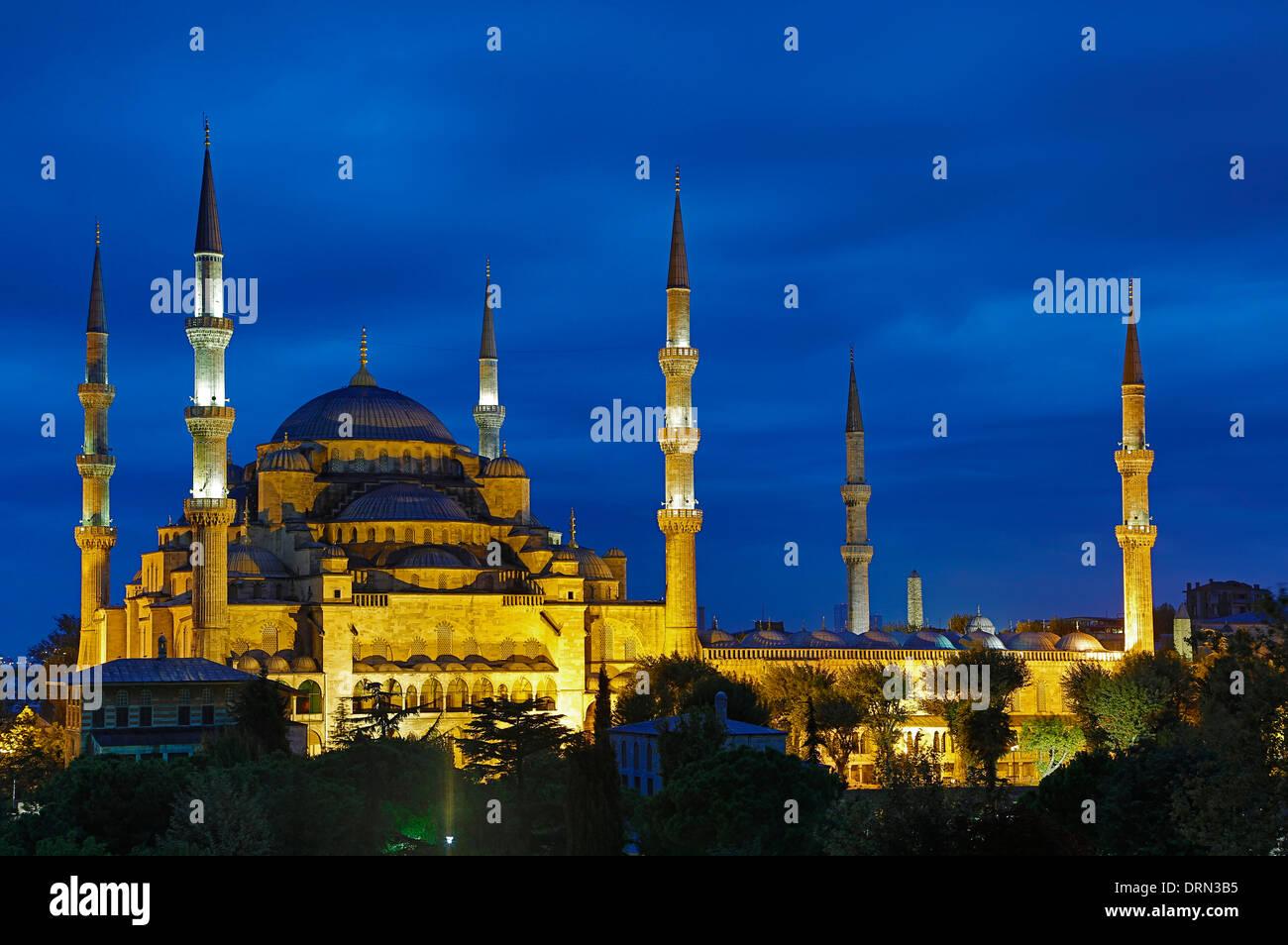 La Mezquita Azul de Estambul, Turquía Imagen De Stock