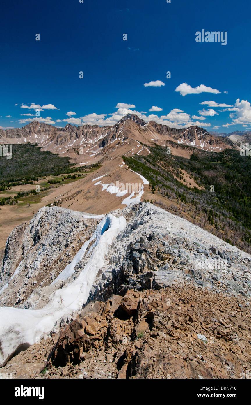 Nube Blanca montañas idaho, EE.UU. Imagen De Stock