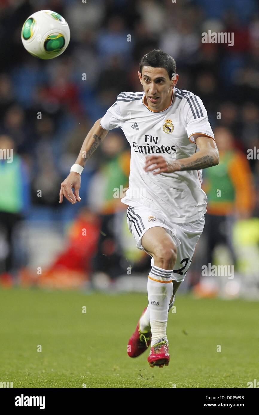 Madrid, España. 28 ene, 2014. Ángel di María (Real) / Fútbol Soccer ...