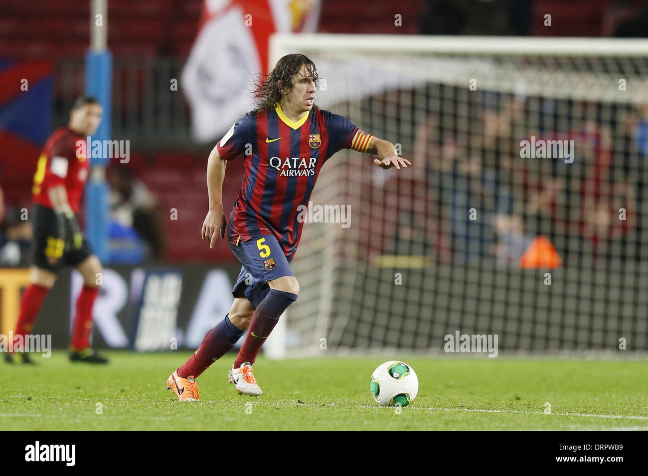 Barcelona, España. 29 de enero de 2014. Carles Puyol ...