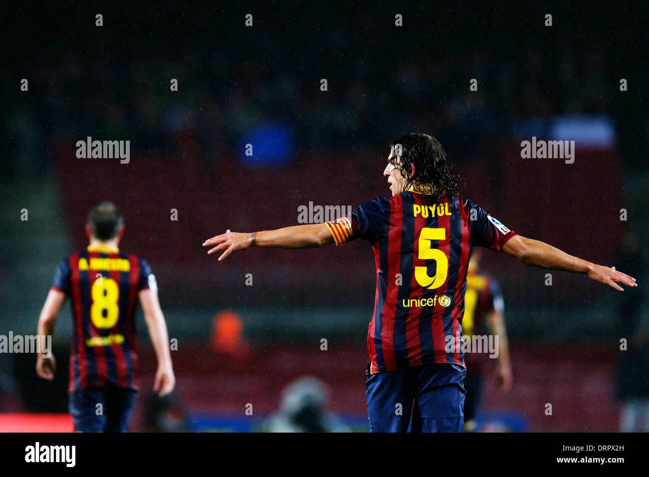 Barcelona, España. © D. 29 de enero de 2014. Carles Puyol ...