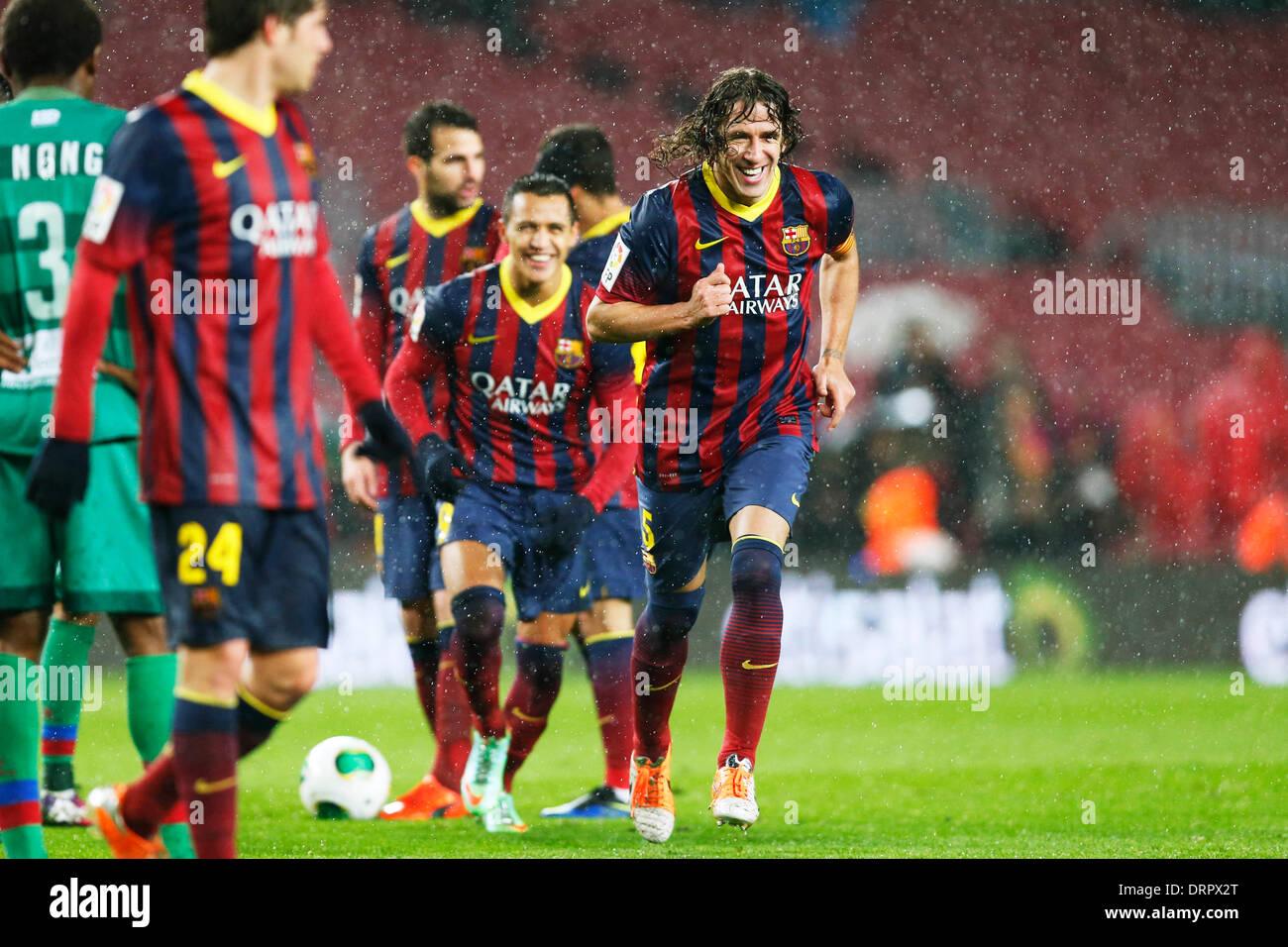 Barcelona, España. © D. 29 de enero de 2014. Carles Puyol (Barcelona ...