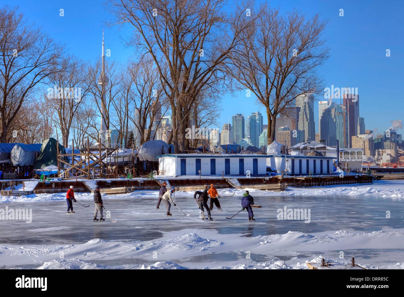 El hockey sobre hielo, Toronto, Ontario, Canadá Imagen De Stock