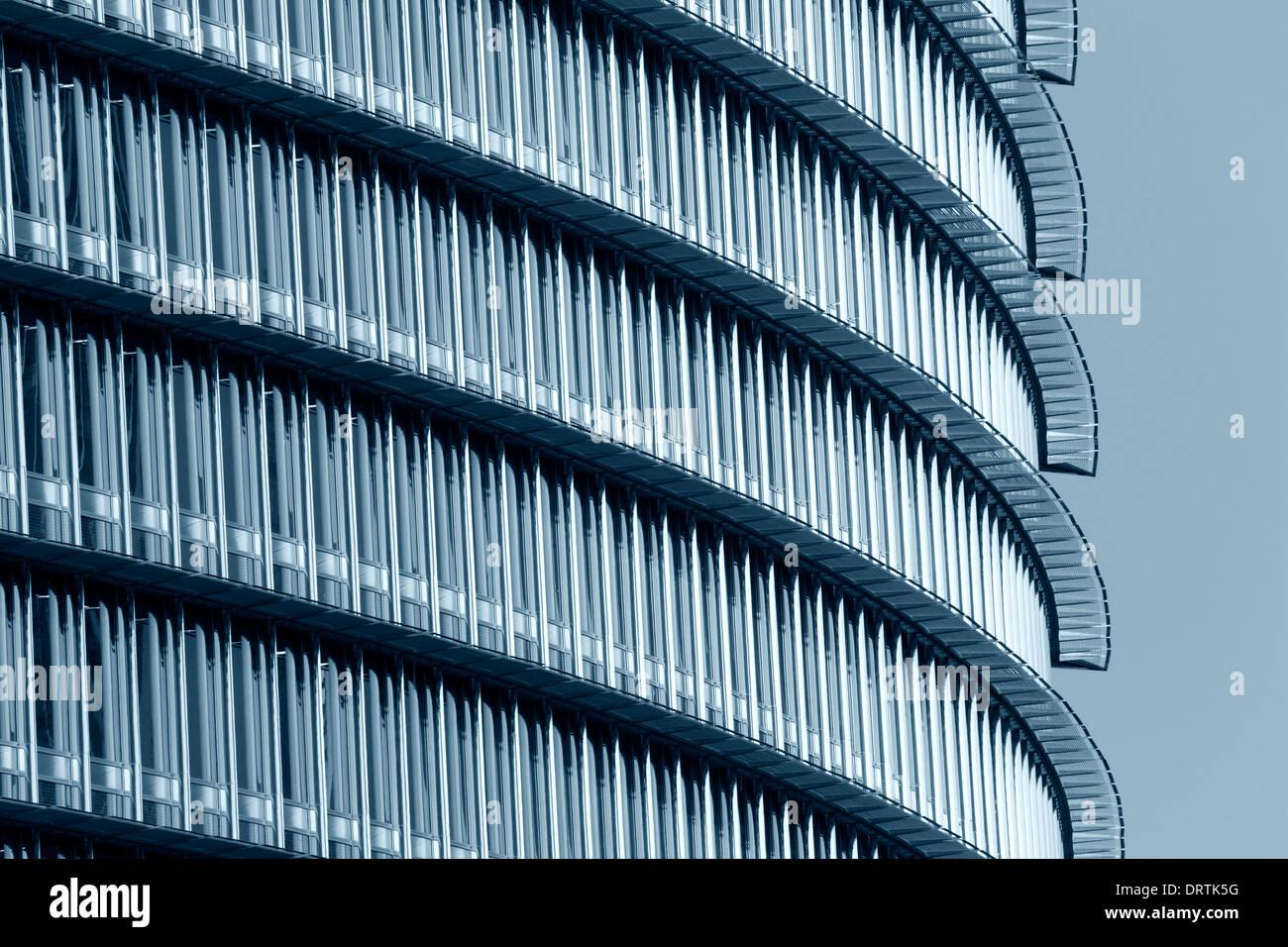 La arquitectura moderna. Burj Khalifa, Dubai. Foto de stock