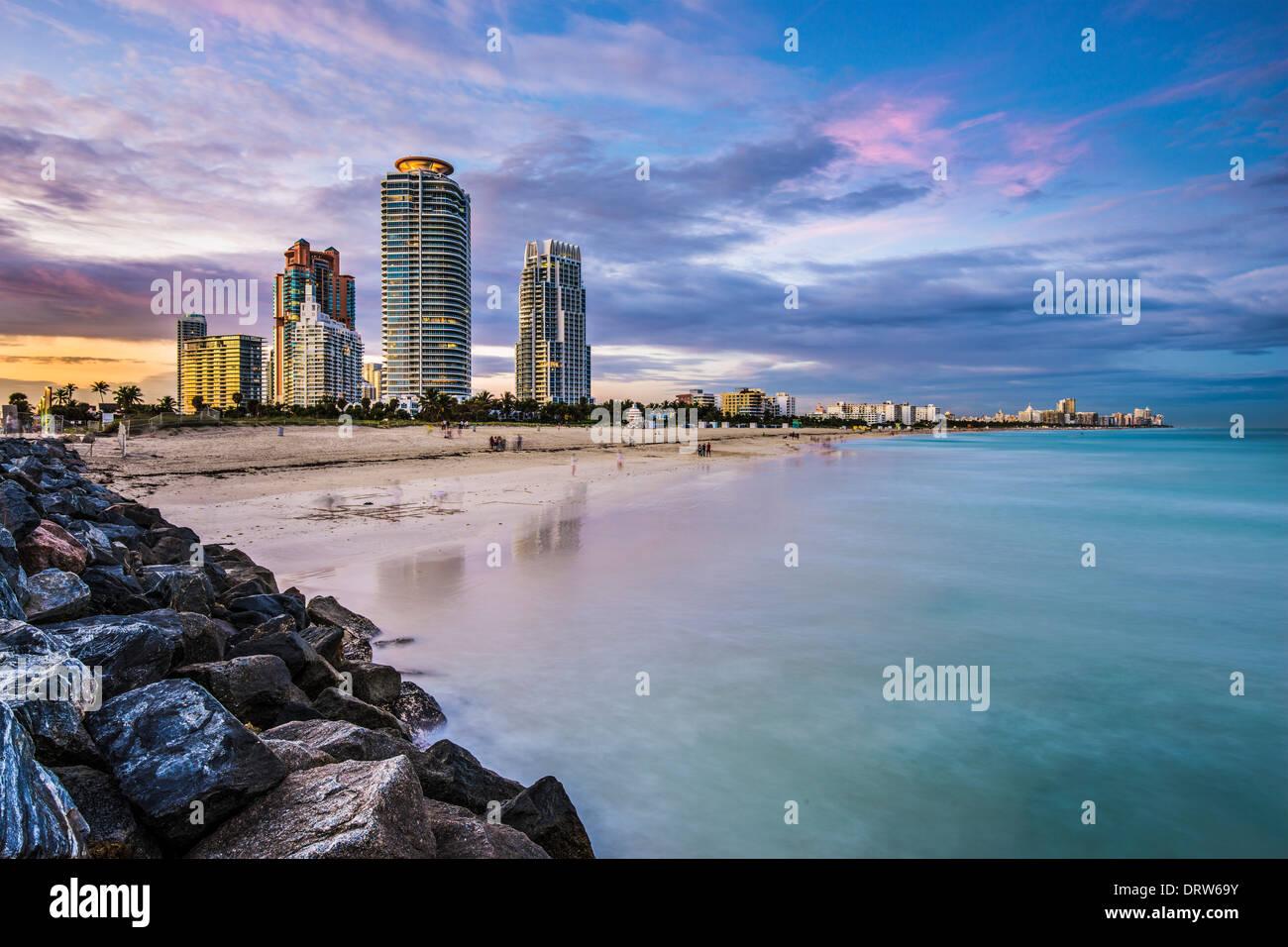 Miami, Florida en South Beach. Imagen De Stock